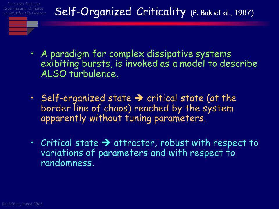 Self-Organized Criticality (P. Bak et al., 1987)