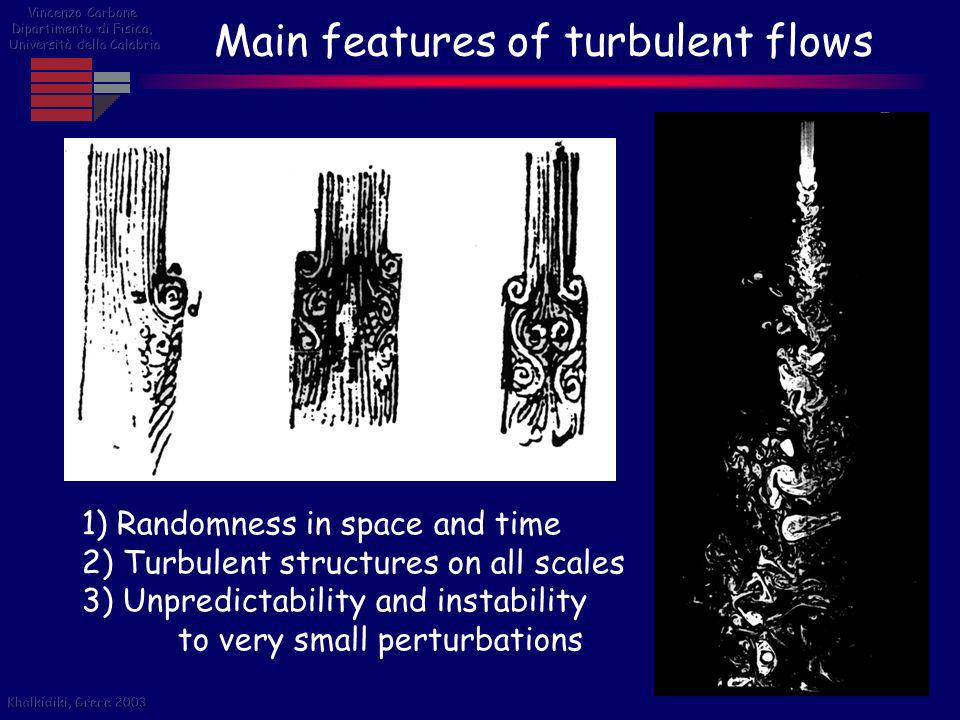 Main features of turbulent flows