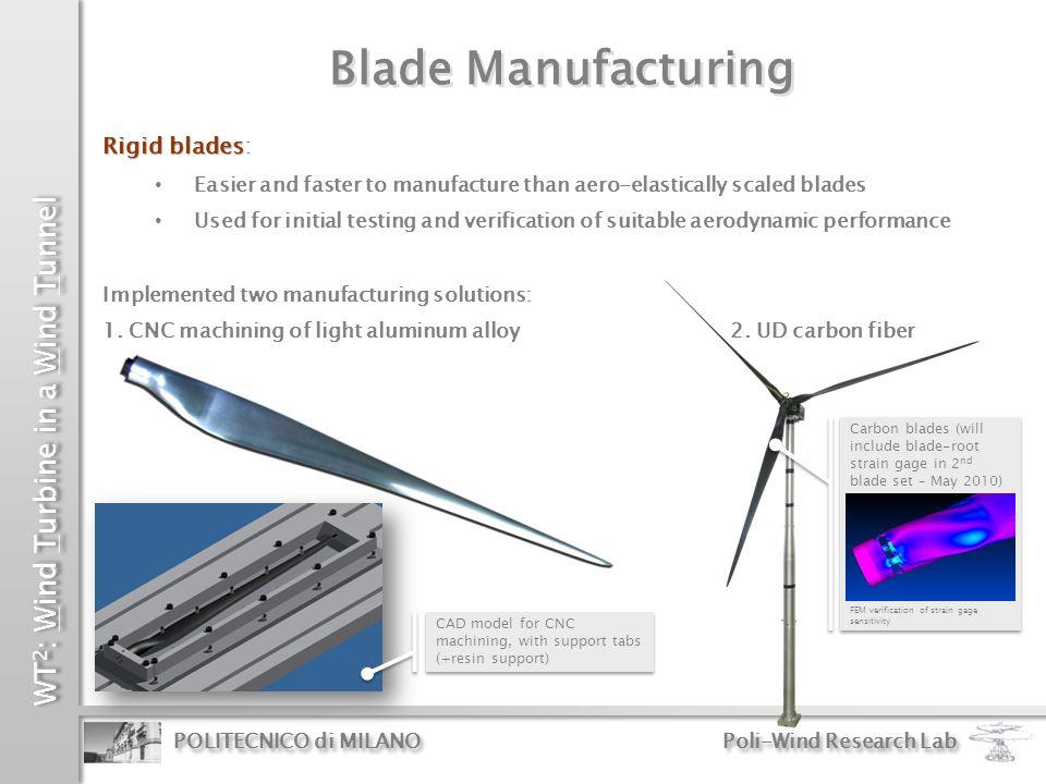 Blade Manufacturing Rigid blades: