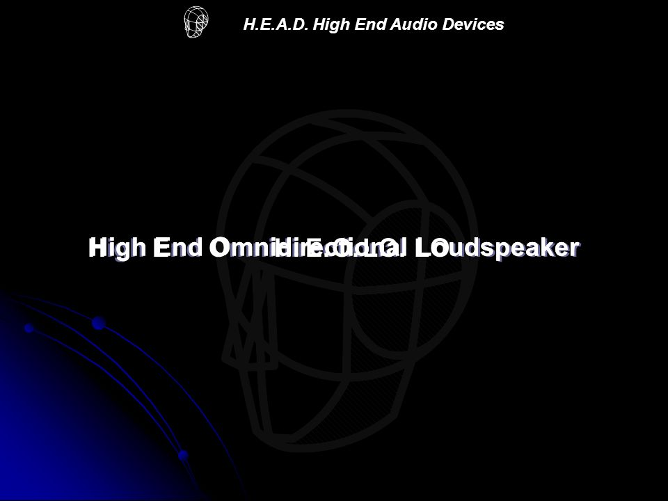 High End Omnidirectional Loudspeaker