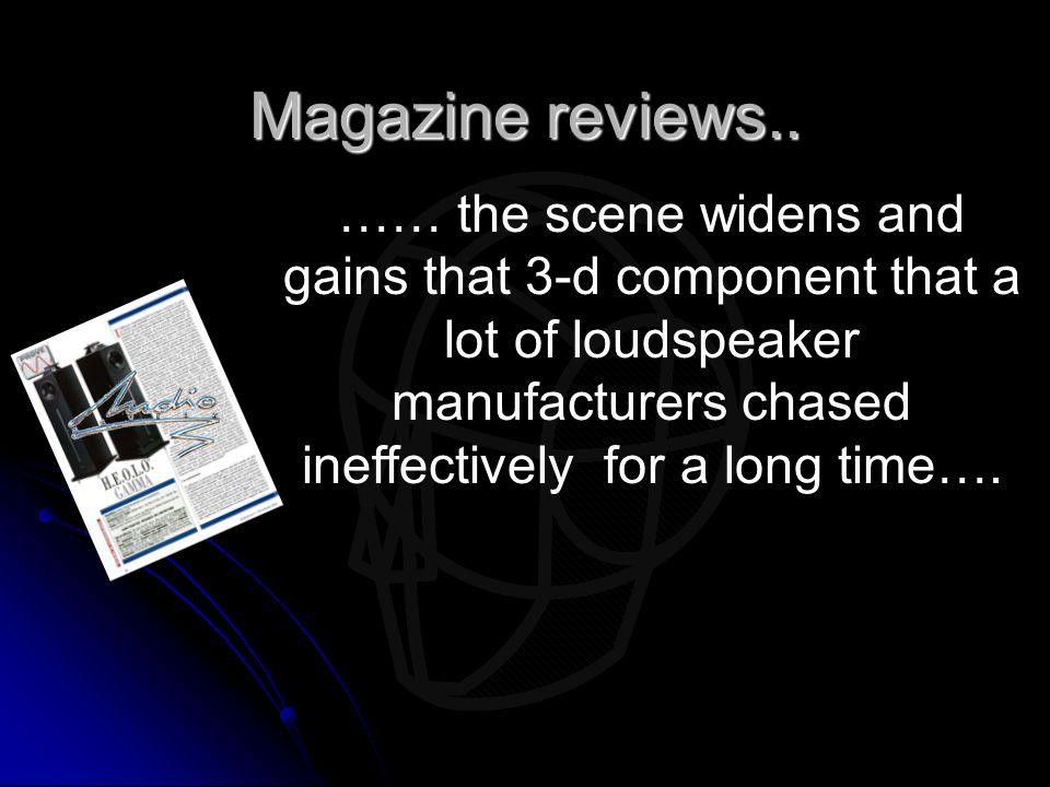 Magazine reviews..