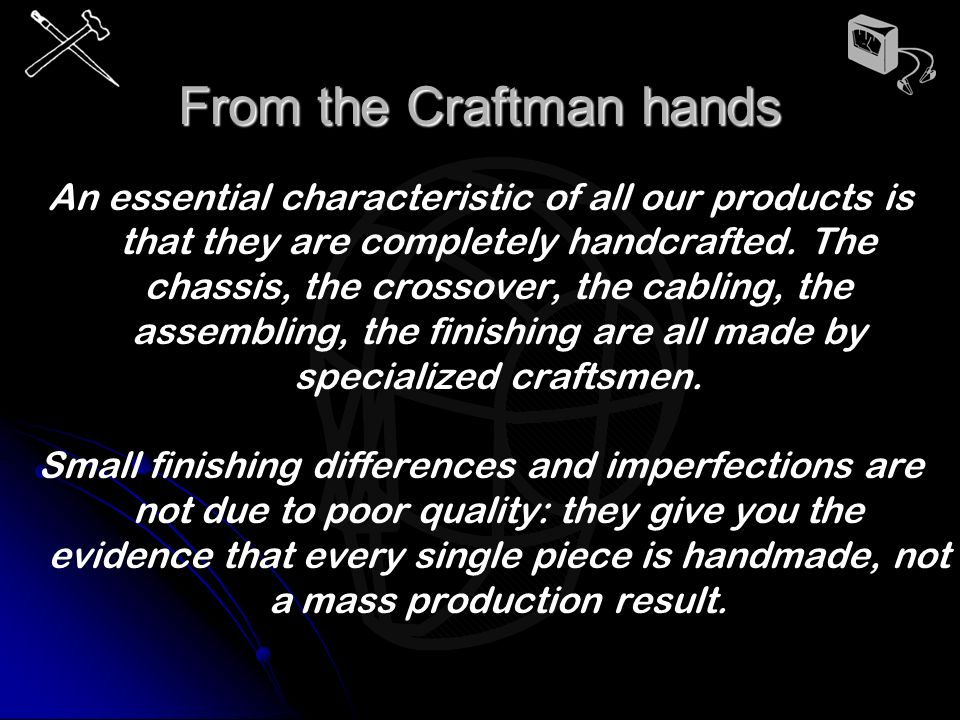 From the Craftman hands