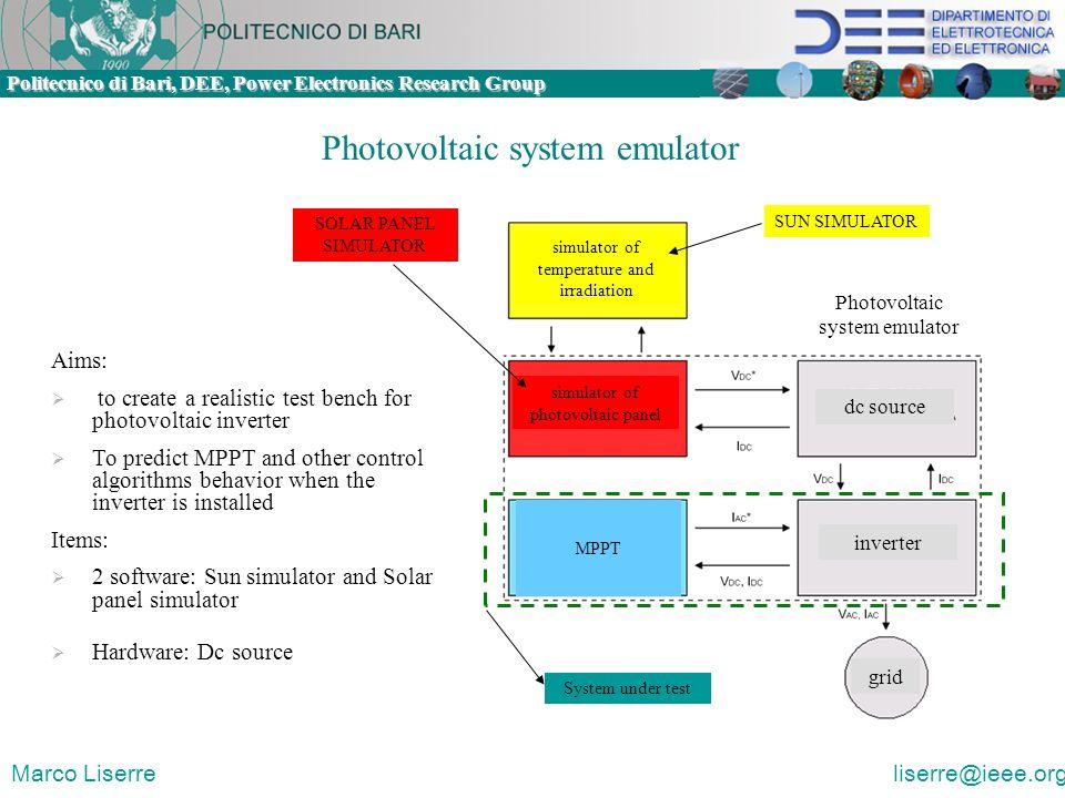 Photovoltaic system emulator
