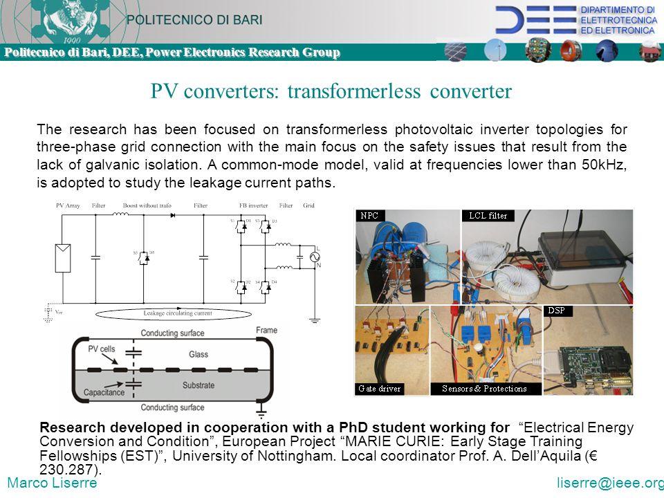PV converters: transformerless converter