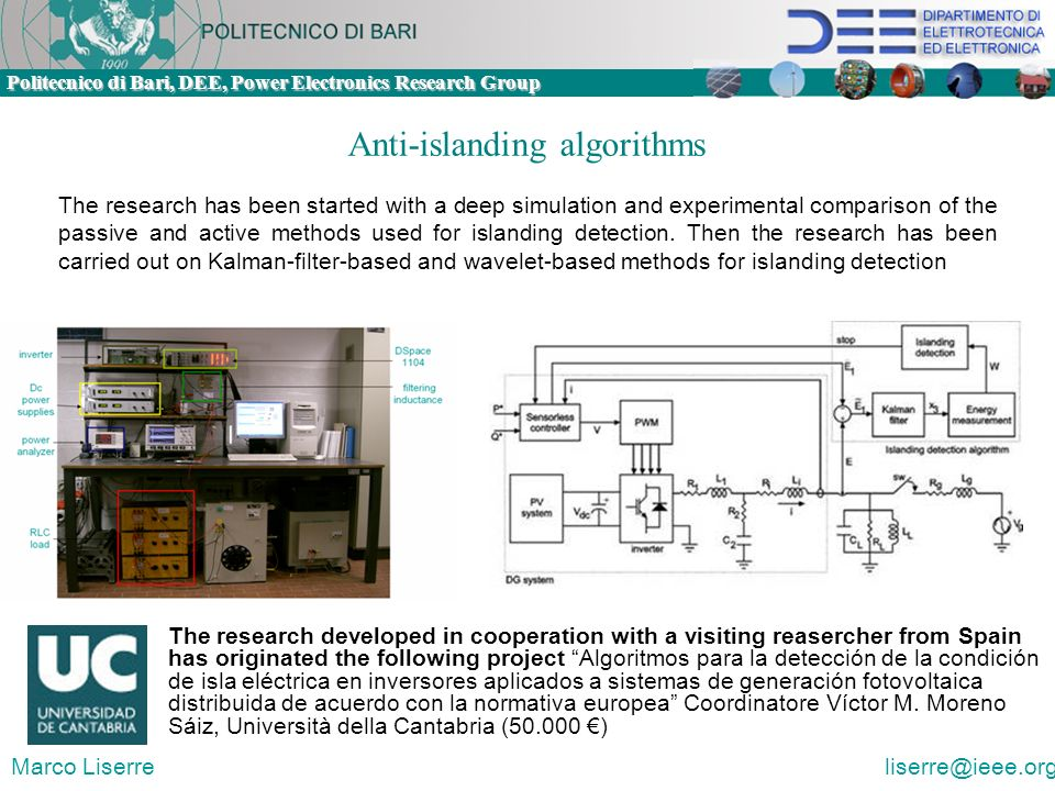 Anti-islanding algorithms