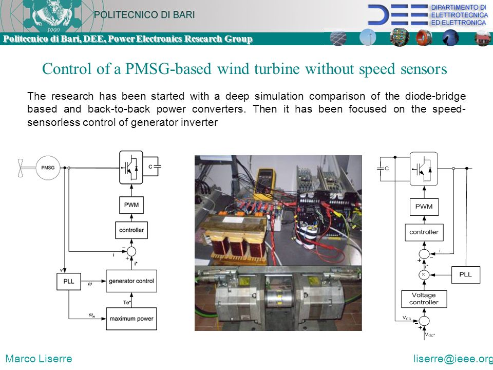 Control of a PMSG-based wind turbine without speed sensors