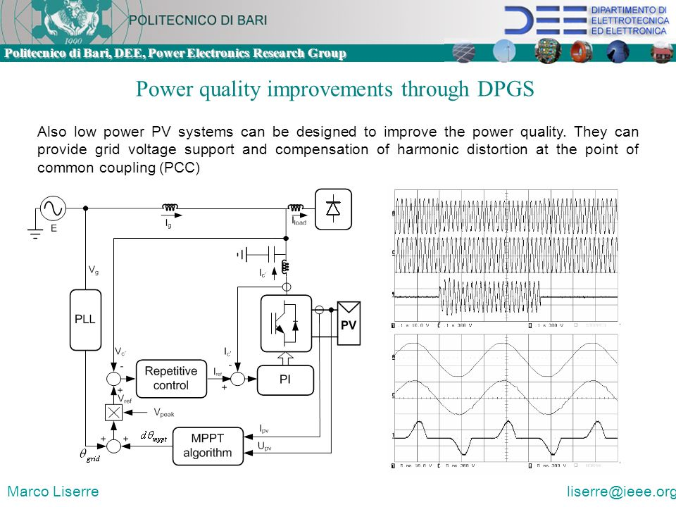 Power quality improvements through DPGS
