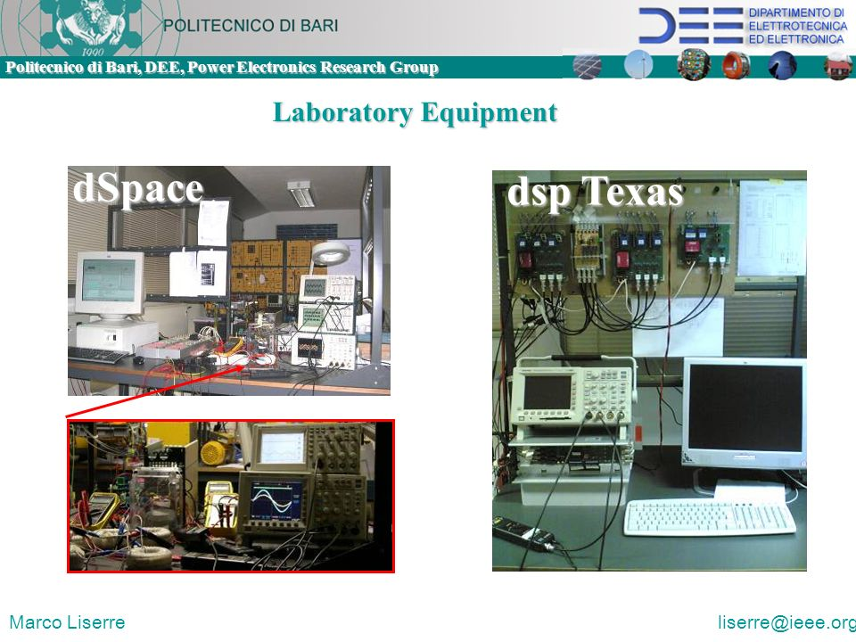 Laboratory Equipment dSpace dsp Texas Marco Liserre liserre@ieee.org