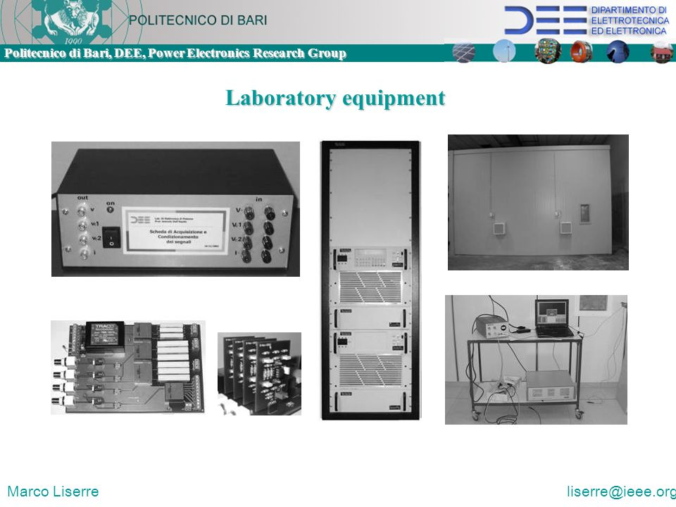 Laboratory equipment Marco Liserre