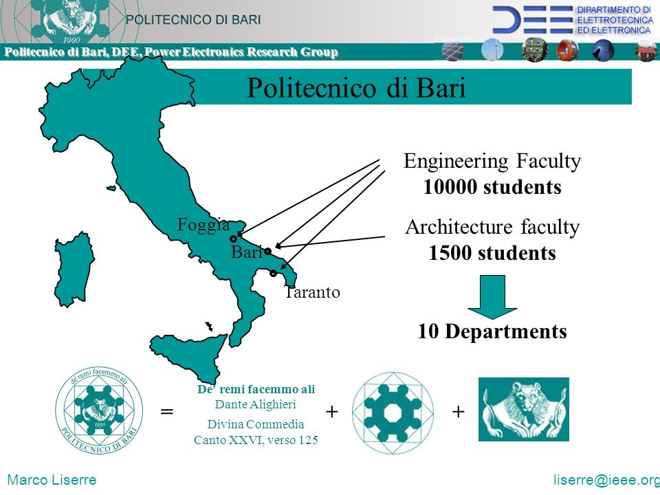 Politecnico di Bari Engineering Faculty 10000 students