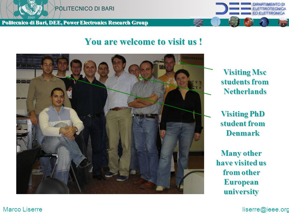 You are welcome to visit us !