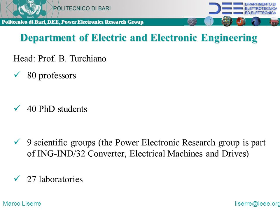 Department of Electric and Electronic Engineering