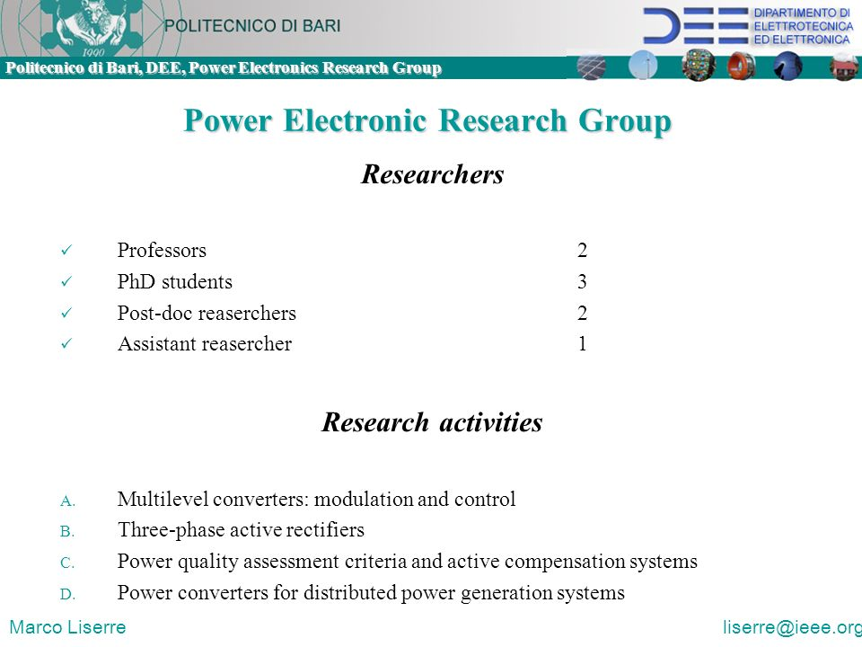 Power Electronic Research Group