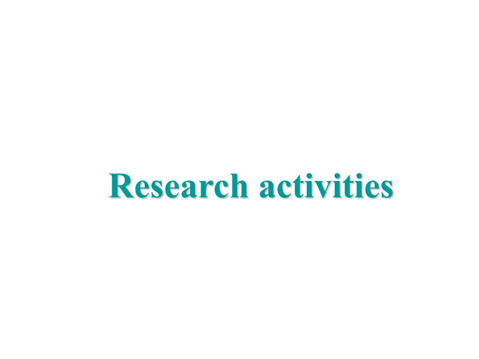 Research activities Marco Liserre
