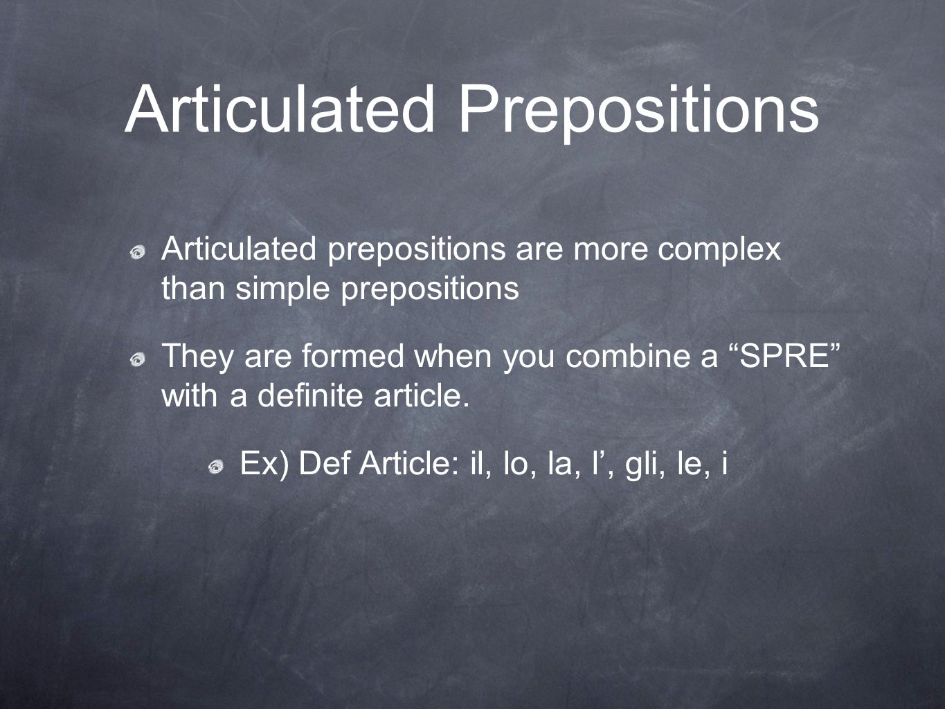 Articulated Prepositions