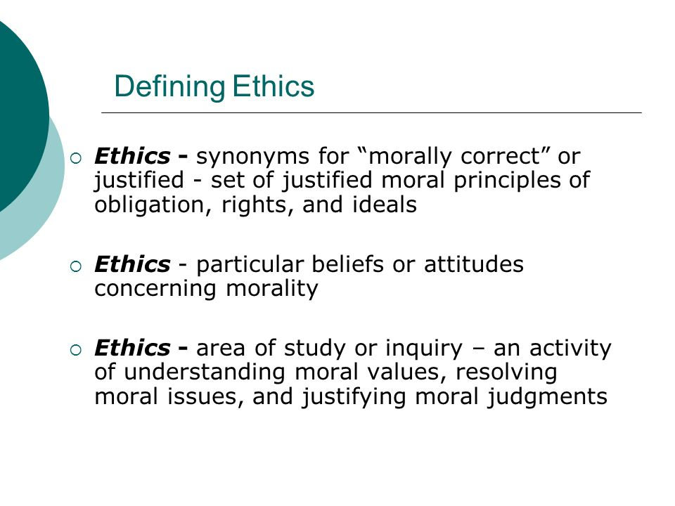 ethics moral principles Business ethics and social responsibility sections of this topic include about ethics, principles and moral values what is business ethics managing ethics in the workplace.