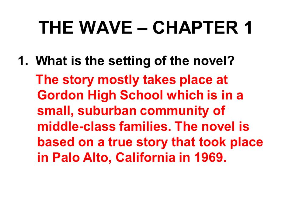 a brief overview of the character ben ross in the novel the wave by todd strasser The wave 1981 movie by norman lear, and book by todd strasser how close is the movie to the real third wave experiment it is fairly close to the ron jones 1976 short story, with differences noted below.