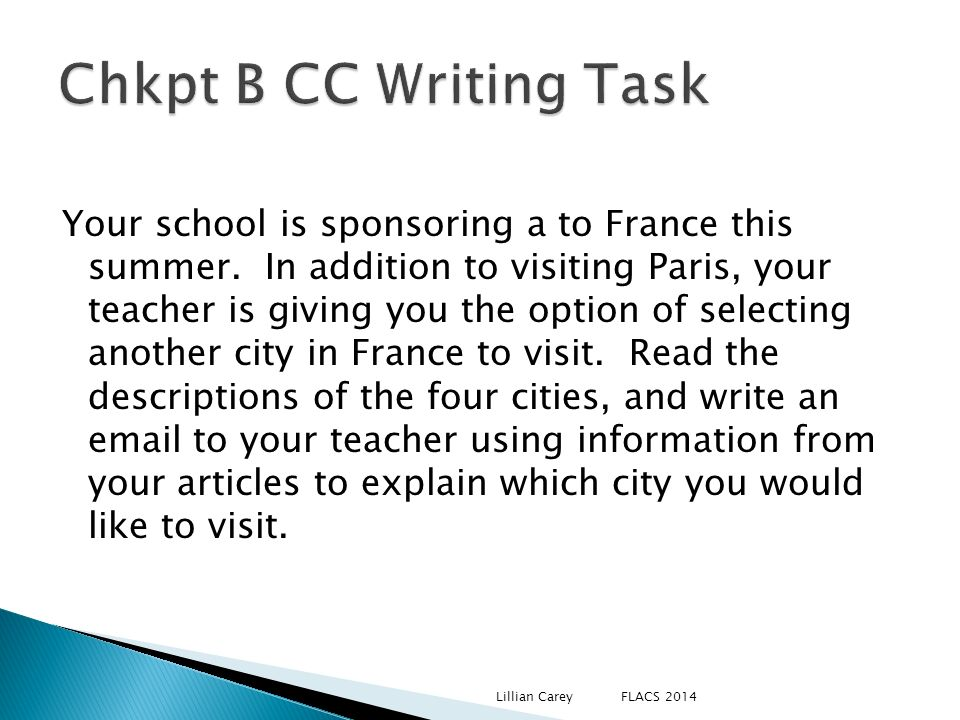 Chkpt B CC Writing Task