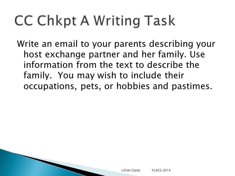 CC Chkpt A Writing Task