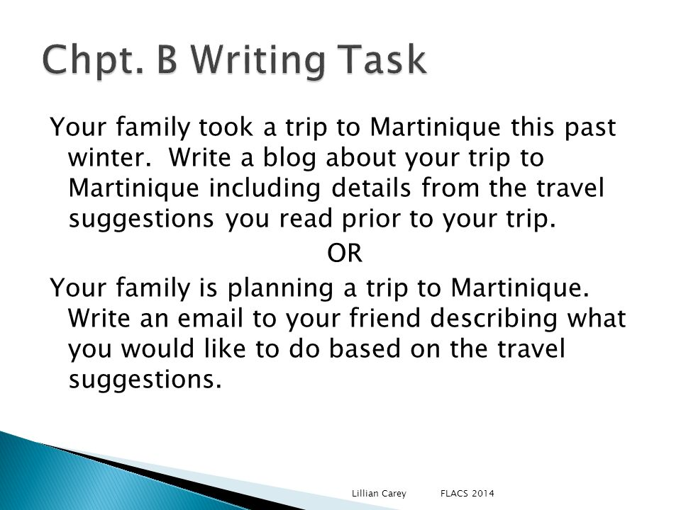 Chpt. B Writing Task