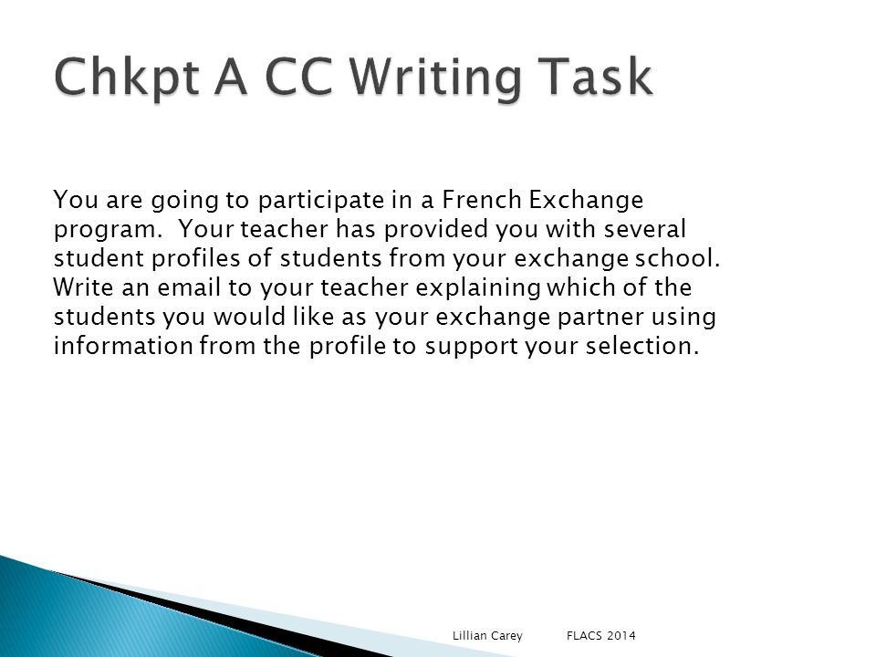 Chkpt A CC Writing Task