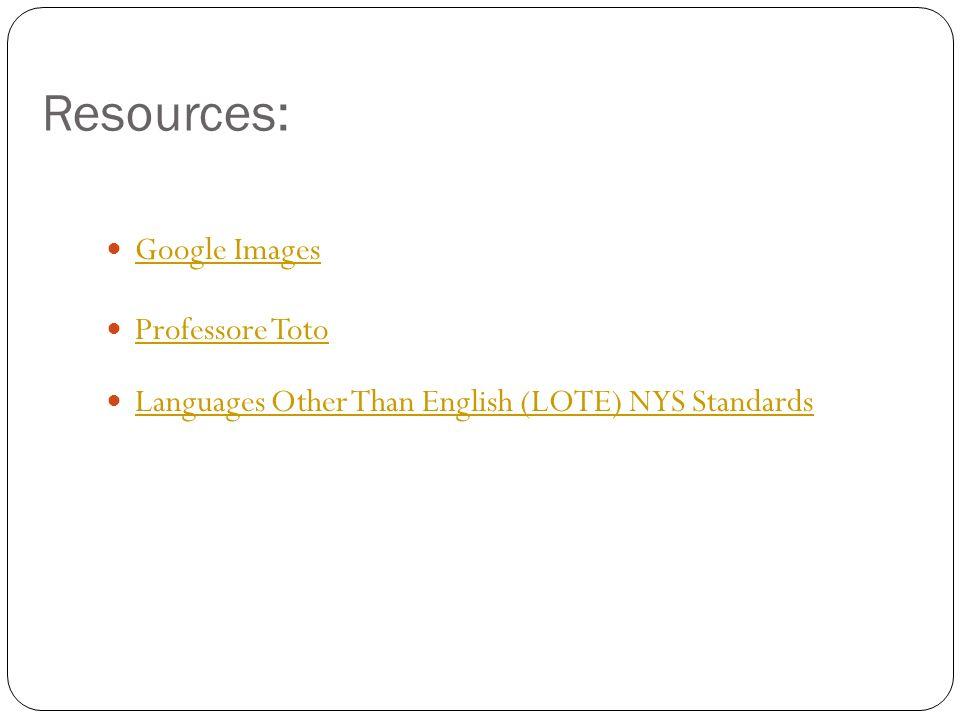 Resources: Google Images Professore Toto