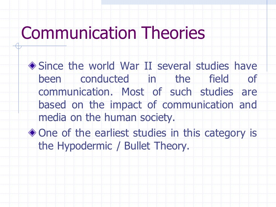 "human communication theories Traditions of human communication theories ""what music do you like"" to  properly answer this question, we need to have some knowledge."