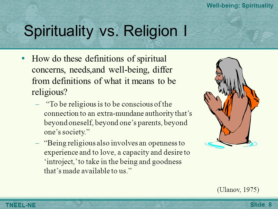 What is a spiritual or religious experience?
