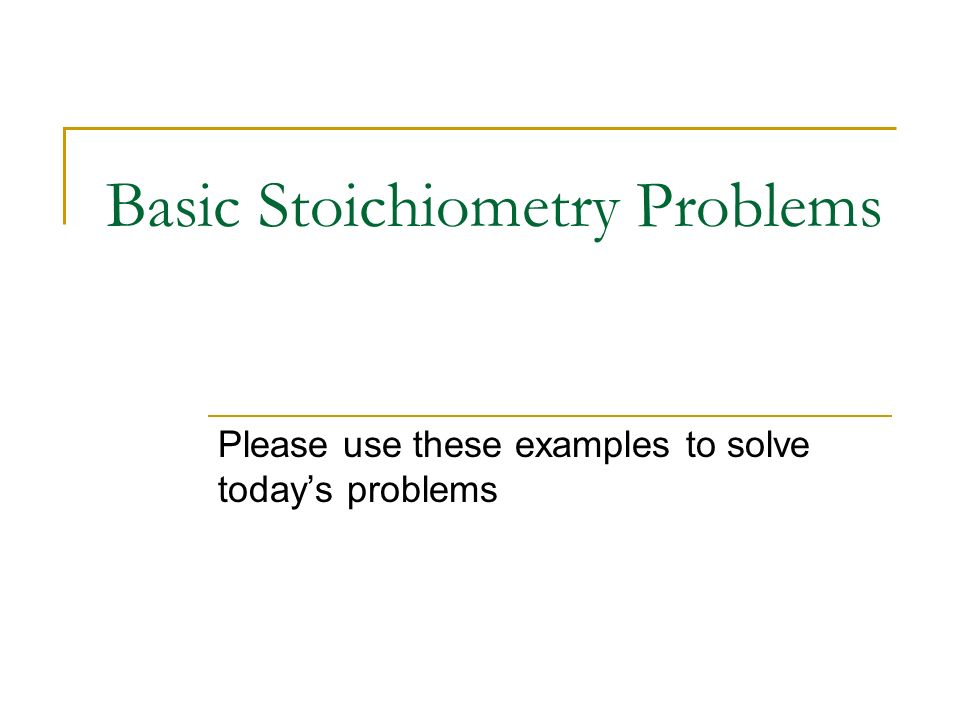 Basic Stoichiometry Problems ppt download – Basic Stoichiometry Worksheet