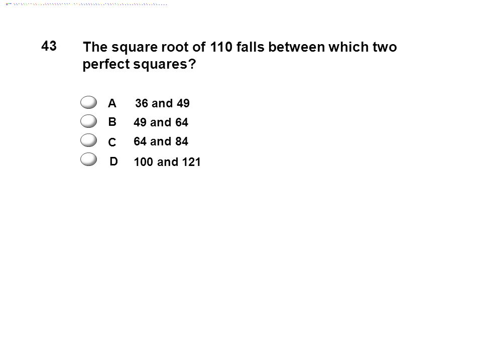 how to find perfect square between two numbers
