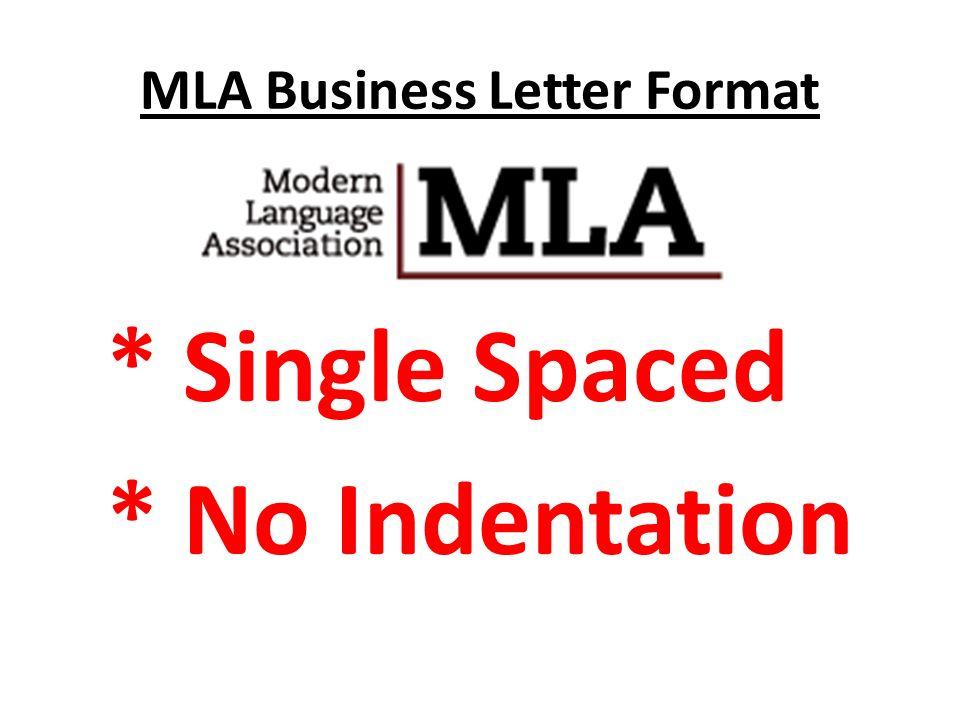 mla formal letter format