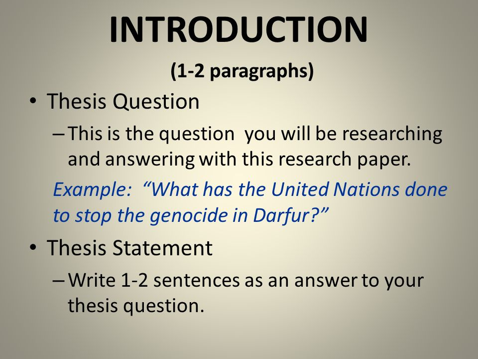 How to start an intro paragraph to a research paper