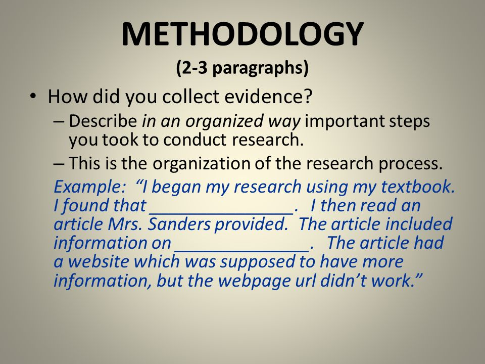 Essay writing methodology checklist