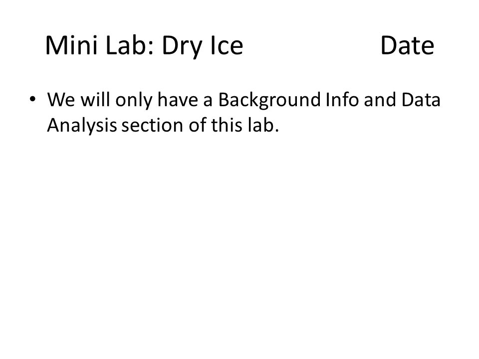Dry Ice And Phase Diagrams Ppt Download