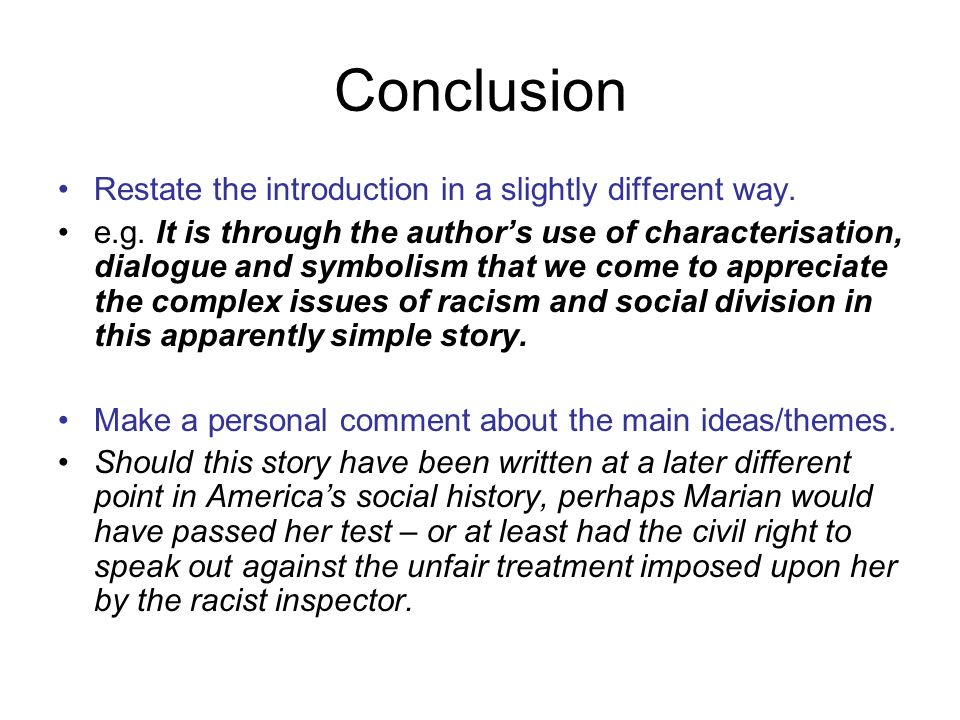 "the test"" by angelica gibbs ppt video online  8 conclusion"