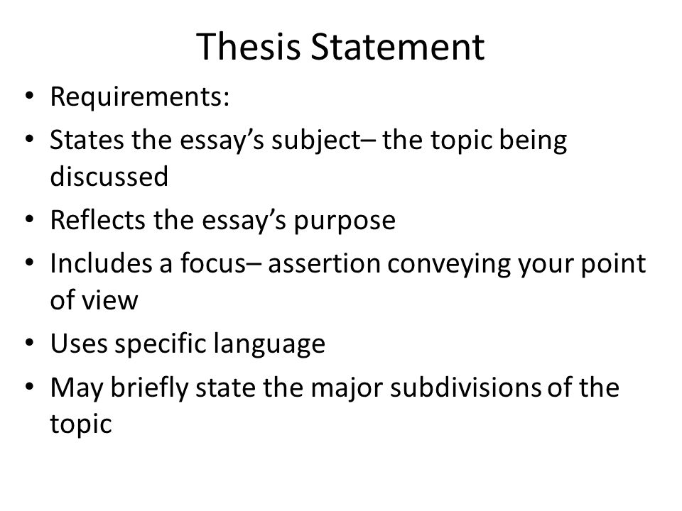 thesis statement includes Teach students to write a thesis statement with this interactive powerpoint that includes examples and activities easy to understand and can be used for reinforcement.