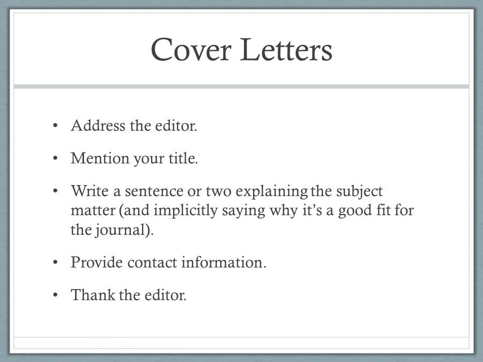 Cover letter peer review journal submission