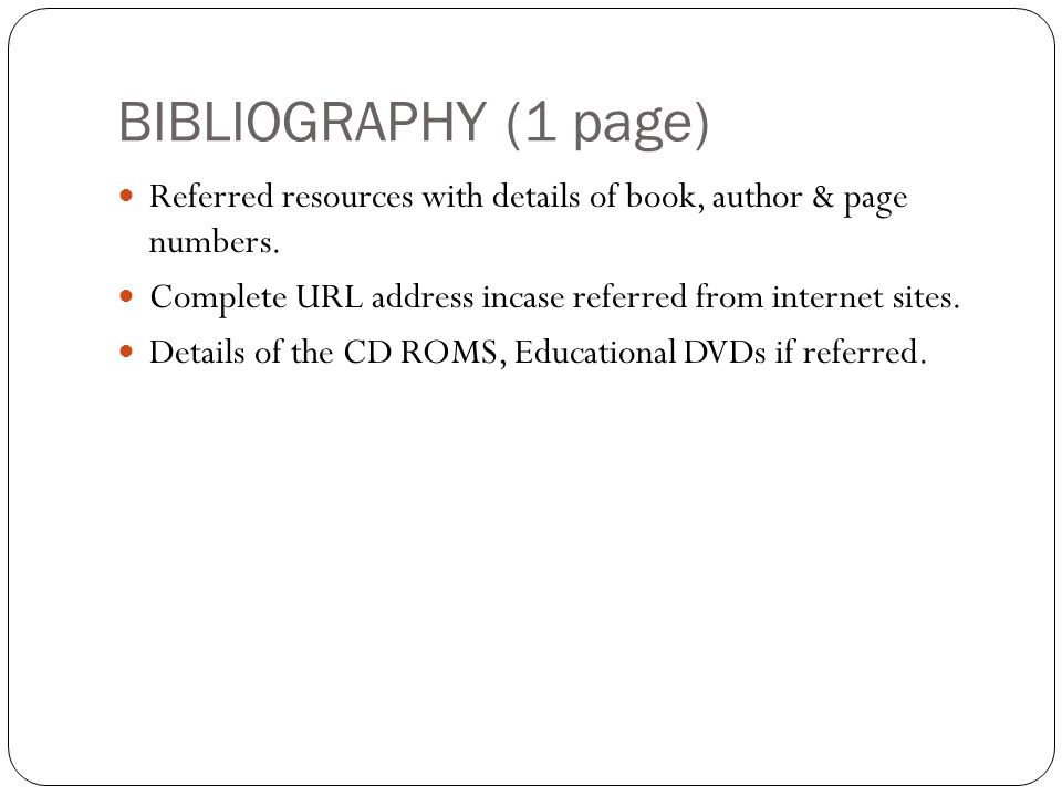 how to write bibliography for project