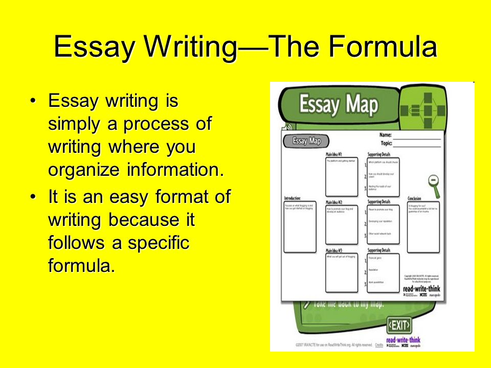 essay writing the formula ppt video online  essay writing the formula