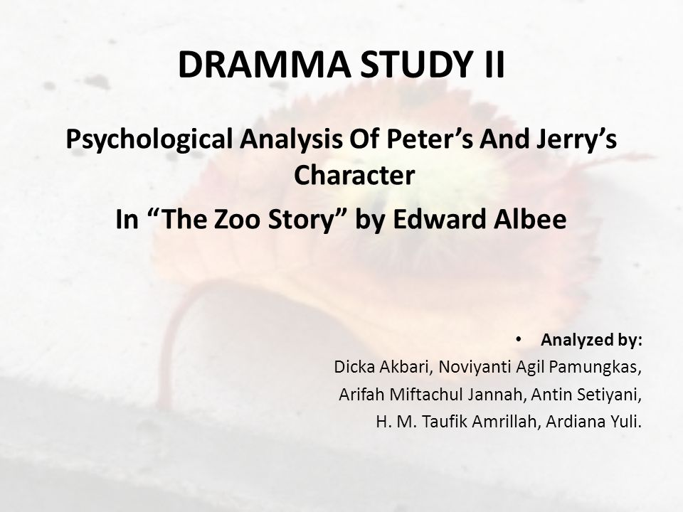 psychosexual character analysis The prevalence of this trope comes from freudian psychology just being more interesting for character stories  she asks him what method of analysis he's going to .