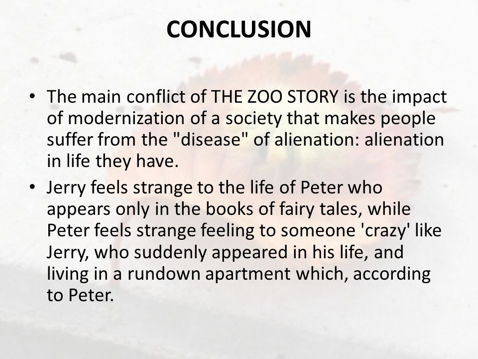 an analysis of jerrys problem in the zoo story by edward albee Edward albee's at home at the zoo (that's the legally mandated title, like disney's frozen) is a two-act play made up of a pair of related one-acts by edward albee, who died in 2016, after a.