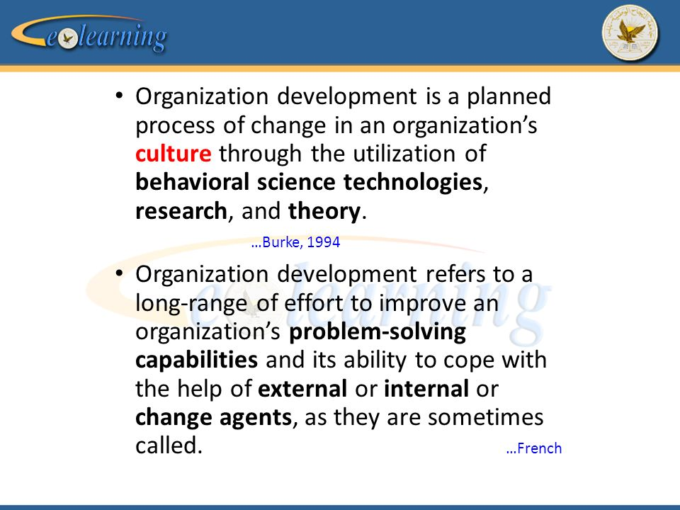 a research on the organizational development and change theory of usstratacom