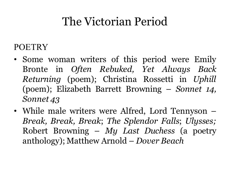 teaching media of major british writers ppt video online  15 the victorian period poetry