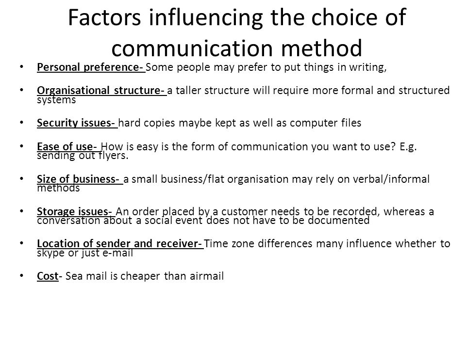 factors that may influence communication and In this article, we cover the topic of international marketing and explore 1) an introduction to international marketing, 2) factors to consider for international marketing.