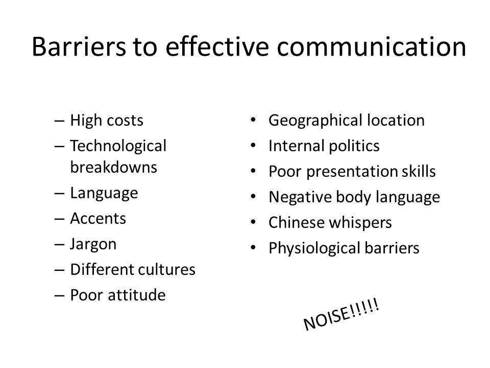 Barriers to effective communication Essay