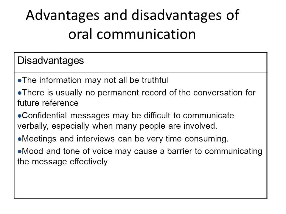 disadvantages of means of communication Advantages and disadvantages of written communication advantages and disadvantages of written this communication can always have a later use as a means of.