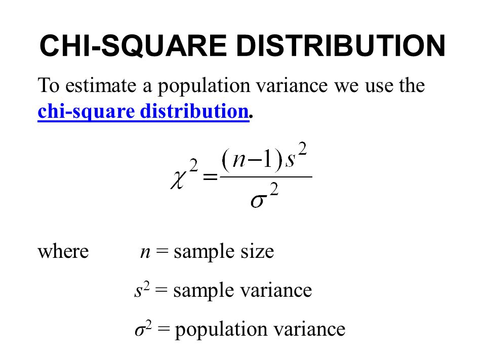 Estimating A Population Variance  Ppt Video Online Download