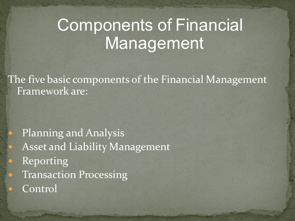 Components of Financial Management