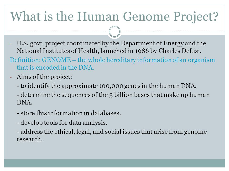 a discussion of the human genome project Human genome sequencing: the real ethical dilemmas  the cautious discussion this has catalysed has been welcome the advent of personal and medical genomics does pose challenges for society.
