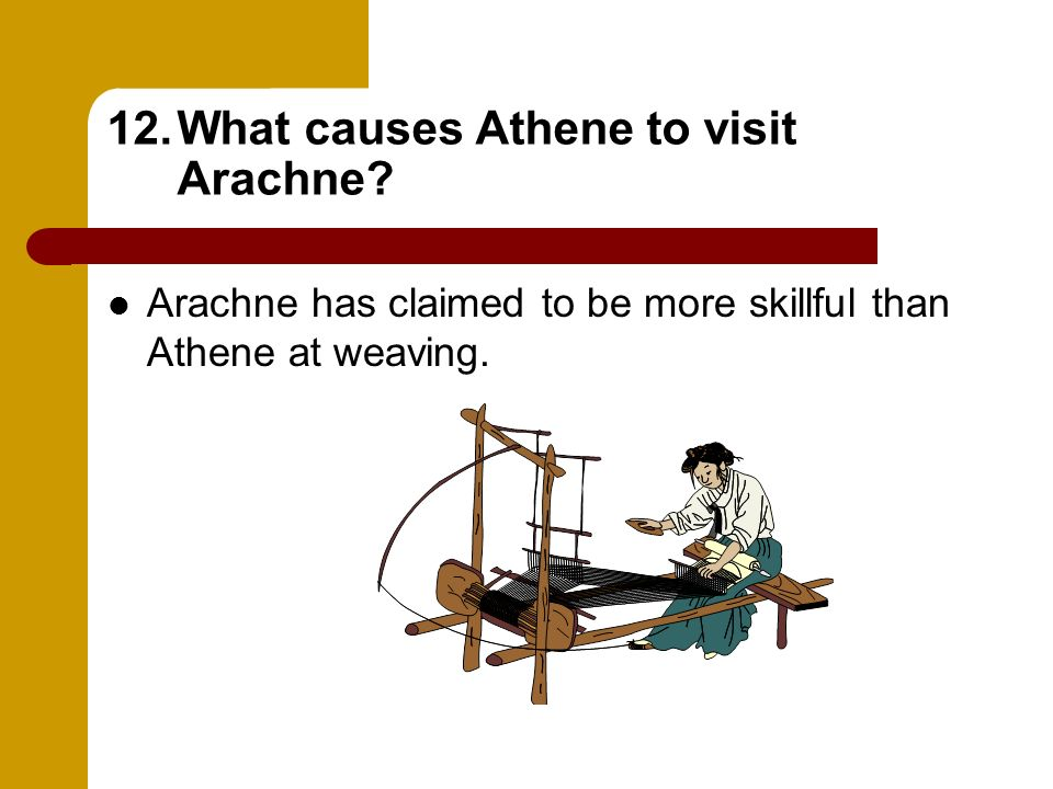 What causes Athene to visit Arachne
